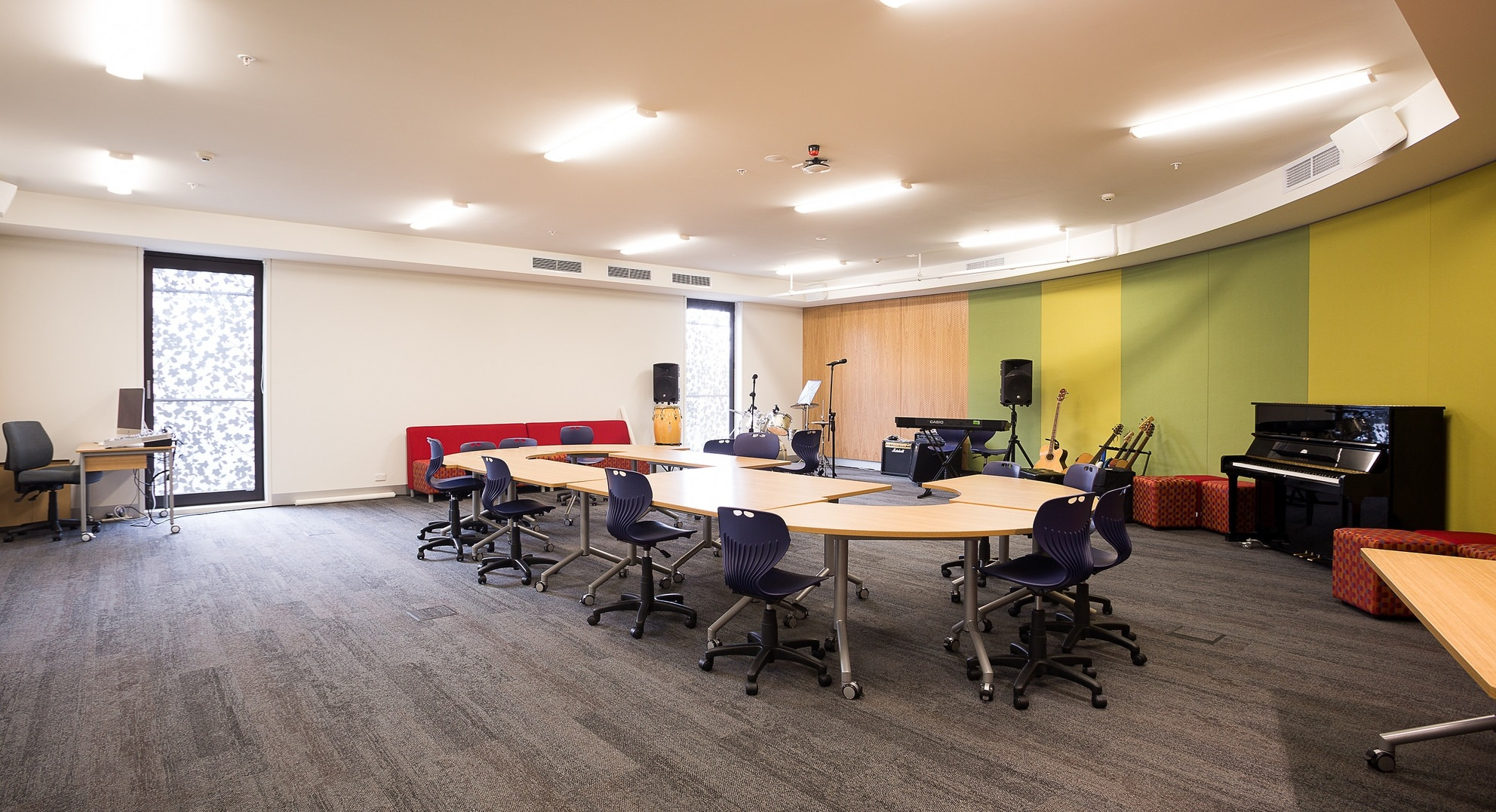 Our music classrooms are housed in the teaching and learning spaces within the purpose built Arts Centre.
